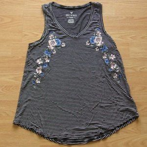 NWOT AEO Soft & Sexy Embroidered Tank   Size XS